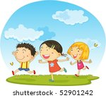 illustration of a kids on a... | Shutterstock .eps vector #52901242