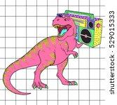 Tyrannosaurus Rex With Boombox...