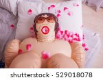 inflatable sex doll strewed... | Shutterstock . vector #529018078