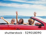group of happy young people... | Shutterstock . vector #529018090