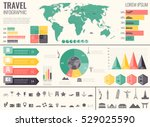 travel and tourism. infographic ... | Shutterstock .eps vector #529025590