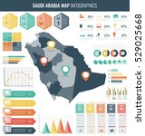 saudi arabia map with... | Shutterstock .eps vector #529025668
