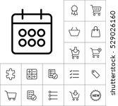 thin line calendar icon on... | Shutterstock .eps vector #529026160
