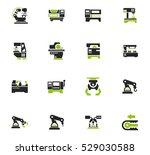 vector machine tool icons set.... | Shutterstock .eps vector #529030588