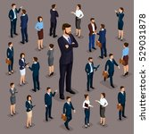 people isometric 3d  the big... | Shutterstock .eps vector #529031878
