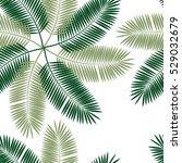 palm leaf seamless pattern... | Shutterstock . vector #529032679