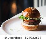 appetizing vegetarian burger... | Shutterstock . vector #529033639