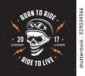 vintage motorcycle t shirt... | Shutterstock .eps vector #529034566