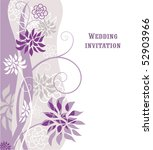 floral  violet background with... | Shutterstock .eps vector #52903966