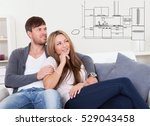 new couple kitchen | Shutterstock . vector #529043458