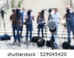 microphone in focus against... | Shutterstock . vector #529045420