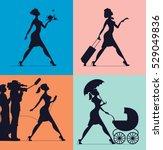 hostess  waitress  babysitting  ... | Shutterstock .eps vector #529049836