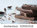 dark chocolate bar | Shutterstock . vector #529051918