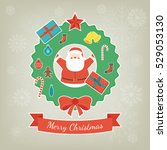 merry christmas greeting card.... | Shutterstock .eps vector #529053130