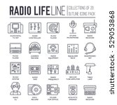 radio life day thin line... | Shutterstock .eps vector #529053868