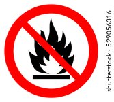 no open flame sign. no fire  no ... | Shutterstock .eps vector #529056316