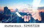 fintech  forex and stock market ... | Shutterstock . vector #529057228