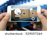 logistic   augmented reality... | Shutterstock . vector #529057264