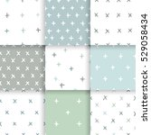 scandinavian minimal pattern...   Shutterstock .eps vector #529058434