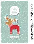scandinavian minimal pattern... | Shutterstock .eps vector #529058470