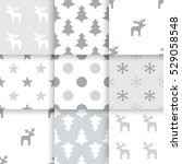 set of scandinavian trend... | Shutterstock .eps vector #529058548