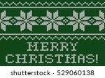 christmas card. knitted texture.... | Shutterstock .eps vector #529060138