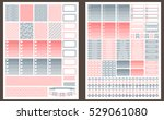 grey and pink vector printable... | Shutterstock .eps vector #529061080