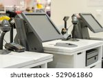 monitors the cash register in a ... | Shutterstock . vector #529061860