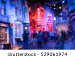 blurred image of diagon alley... | Shutterstock . vector #529061974