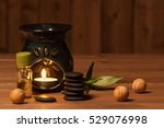 Aroma Lamp With Burning Candle...