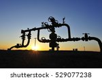 the pipe and valve oil fields  | Shutterstock . vector #529077238