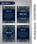 tribal mandala design set.... | Shutterstock .eps vector #529078900