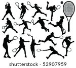 Tennis Silhouette 6 Vector