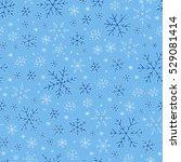 winter doodles hand drawn... | Shutterstock .eps vector #529081414