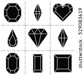 vector diamonds and gems icons. | Shutterstock .eps vector #529083619