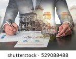 double exposure of businessman... | Shutterstock . vector #529088488