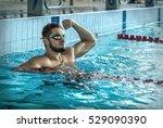 Swimmer Man. Happiness Swimmin...