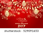 beautiful golden christmas... | Shutterstock .eps vector #529091653