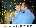 happy father stick on hands... | Shutterstock . vector #529094050