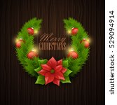 christmas background. vector... | Shutterstock .eps vector #529094914