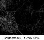 spider web silhouette against...   Shutterstock . vector #529097248