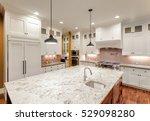 beautiful kitchen interior with ... | Shutterstock . vector #529098280