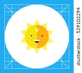 smiling sun icon | Shutterstock .eps vector #529102294