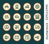 travel web icons.  vacation and ... | Shutterstock .eps vector #529111990
