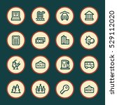 travel web icons set | Shutterstock .eps vector #529112020