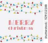 christmas card. vector clipart... | Shutterstock .eps vector #529112188