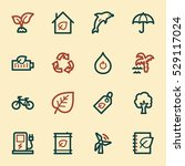 green ecology web icons set | Shutterstock .eps vector #529117024