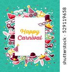 carnival concept banner with... | Shutterstock .eps vector #529119658
