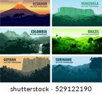 vector set of panorams... | Shutterstock .eps vector #529122190