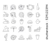 set of icons with food | Shutterstock .eps vector #529122394